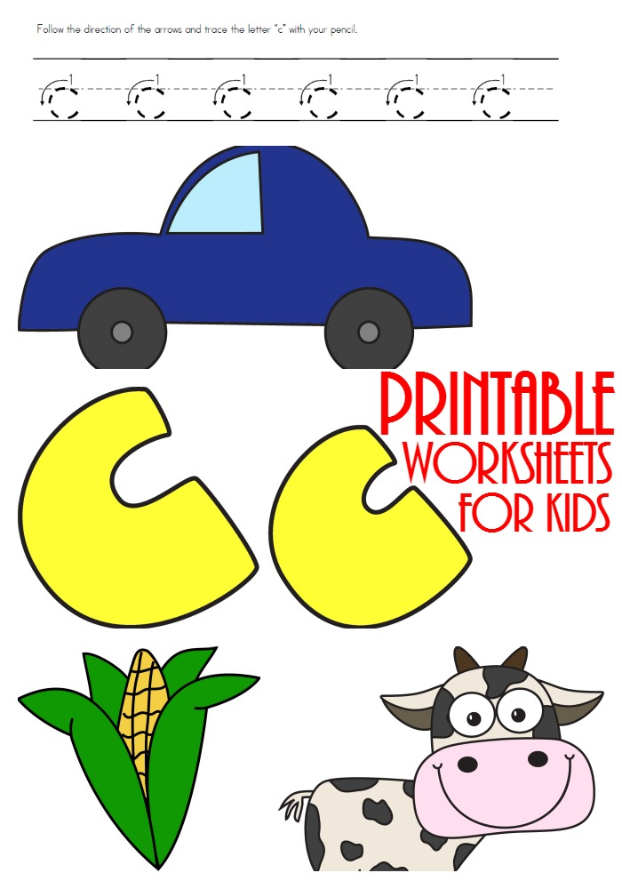 printable letter c worksheets
