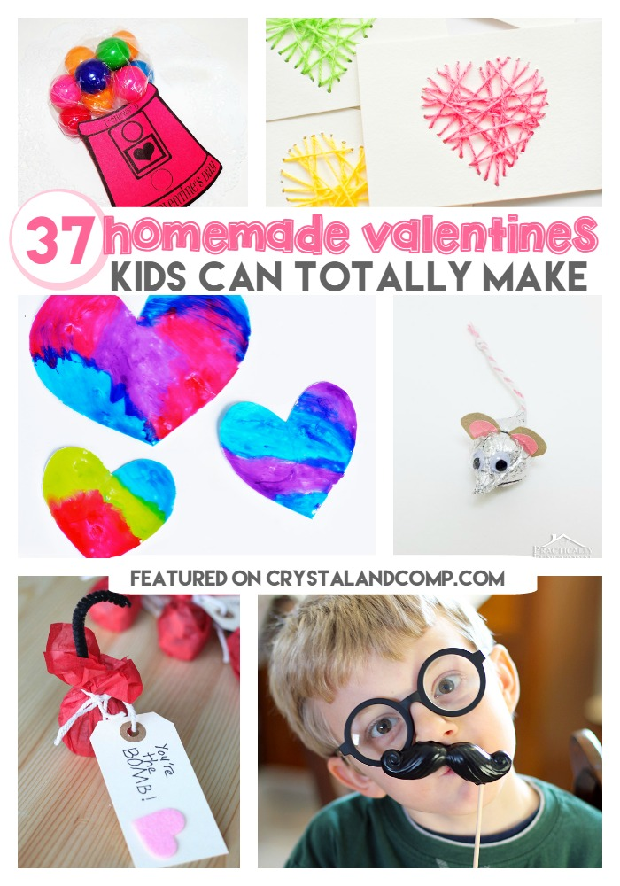 Homemade Valentine Cards for Kids – Homemade Kid Valentine Cards