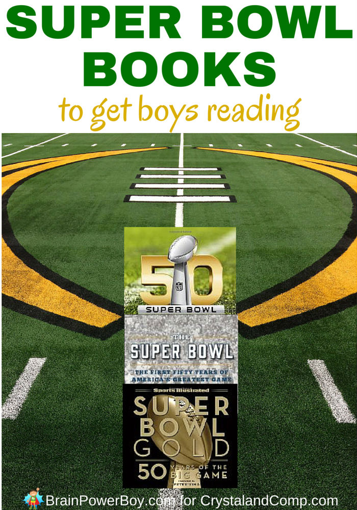 Grab some awesome Super Bowl books that are guaranteed to get your football fan reading.