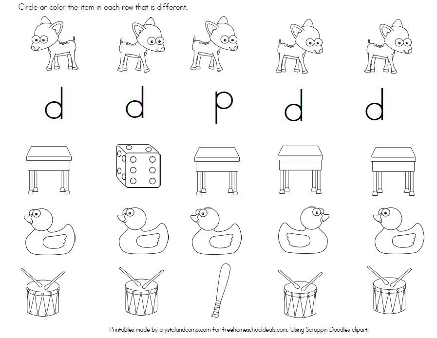 FREE LETTER D WORKSHEETS Instant Download – Letter D Worksheets