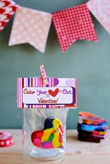 Color Your Heart Out Valentine Crayon Craft