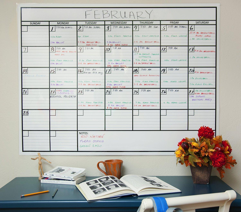 Office Calendar Wall : Laminated jumbo wall calendar crystalandcomp