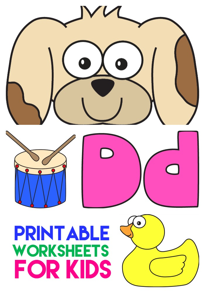 printable letter d worksheets for kids