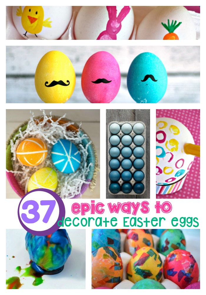 37 epic ways to decorate easter eggs