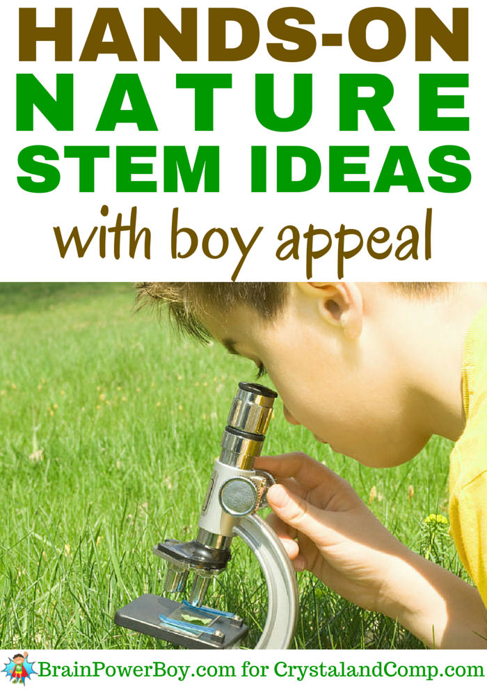 Awesome STEM activities for boys done in nature. If you want to get your boys learning, head outside and try some of these awesome science-based activities.