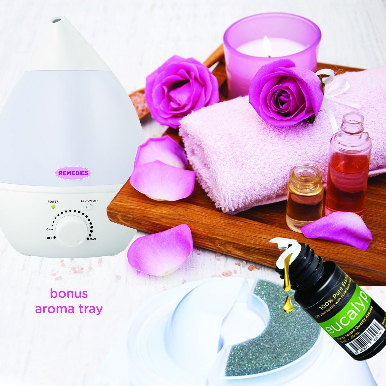 Remedies Ultrasonic Humidifier With Aroma Tray CrystalandComp.com #AA10BB
