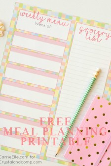 Free Meal Planning Printable {with a Fun, Spring Theme!}
