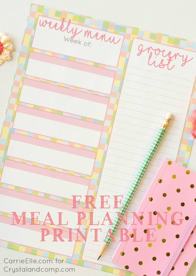 Free Meal Planning Printable with a Fun Spring Theme – Printable Meal Planner