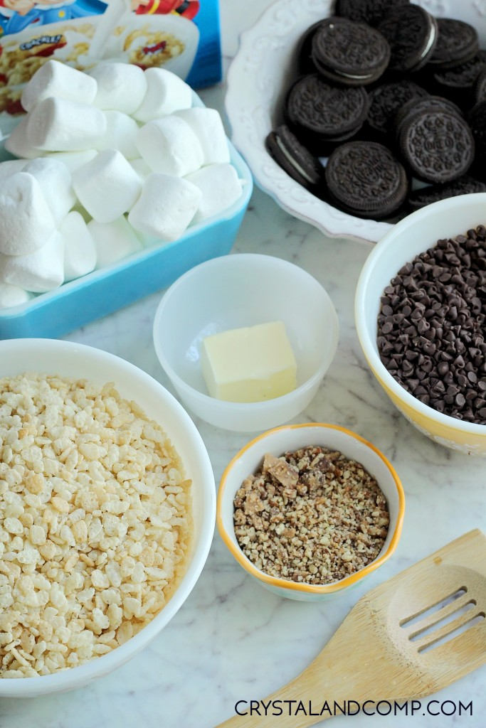 how to make oreo stuffed rice krispie treats