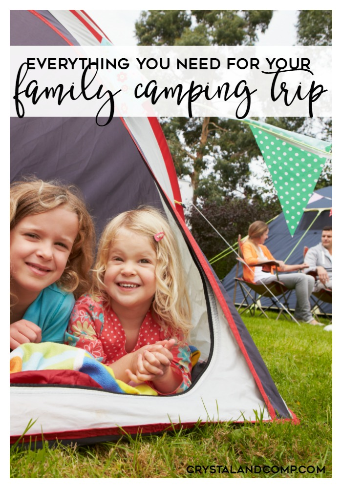 everything your family needs for a camping trip