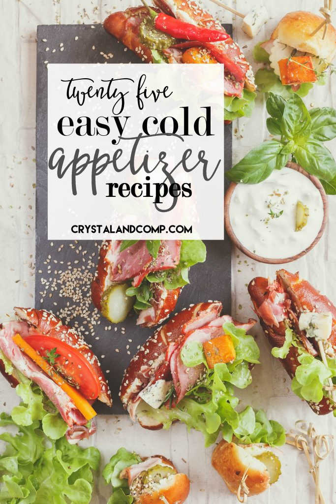 25 easy cold appetizers for Great party appetizer recipes