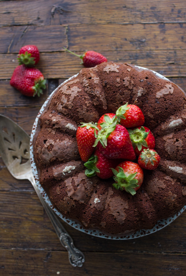 glazed Dark Chocolate Bundt Cake