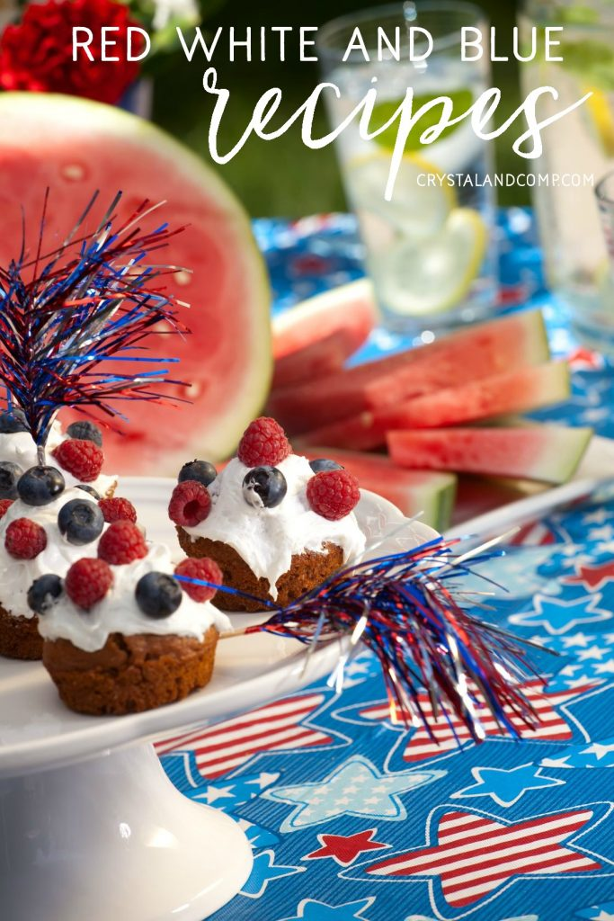 red white and blue food