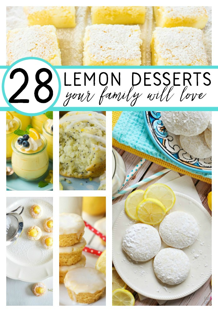 28 lemon desserts your family will love