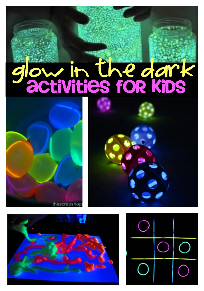 glow in the dark activities for kids. Black Bedroom Furniture Sets. Home Design Ideas