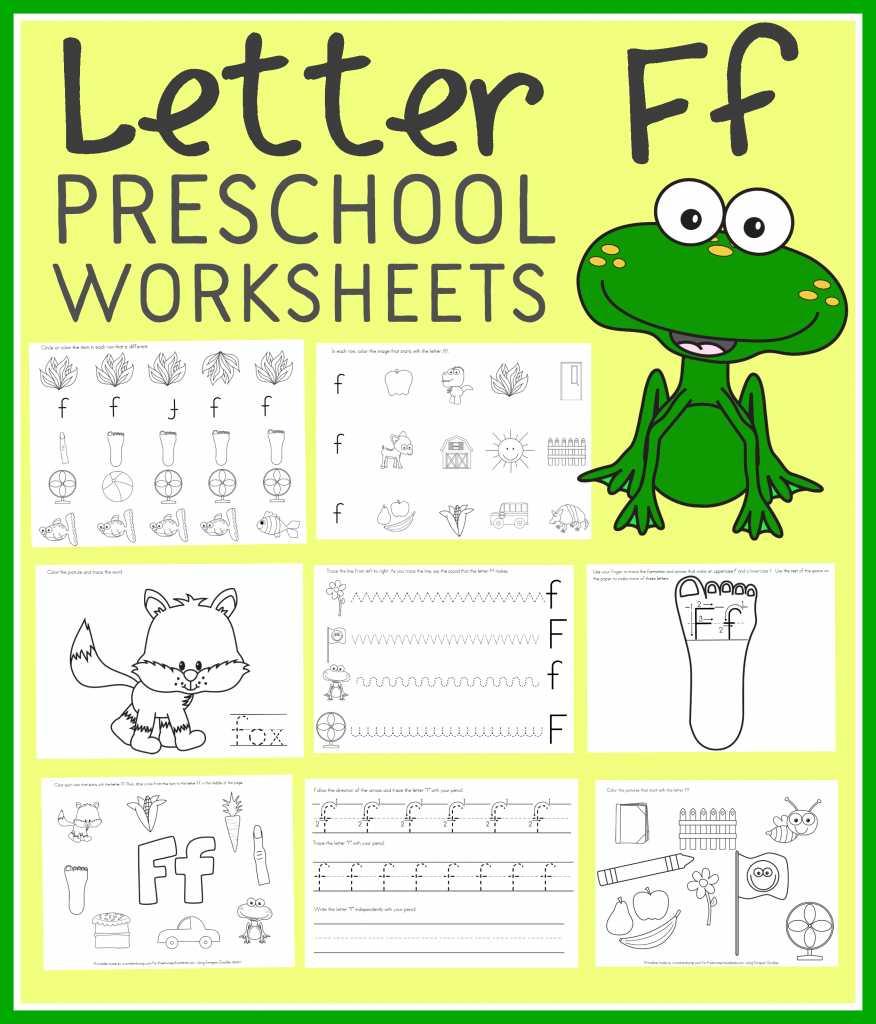 Free School Worksheets For Preschool : Free letter f preschool worksheets instant download
