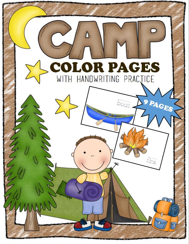 camp color pages