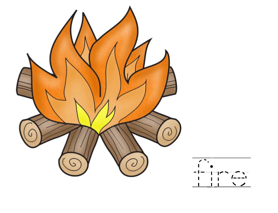 fire color page