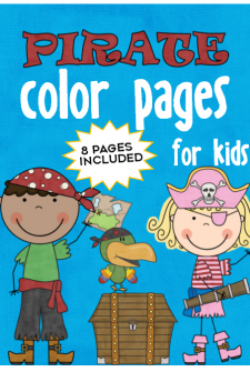 Pirate Color Pages for Kids!