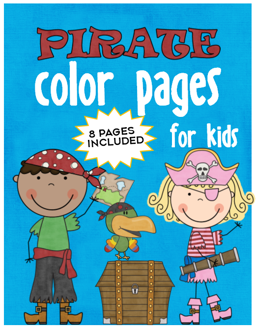 Kid Color Pages: Pirates