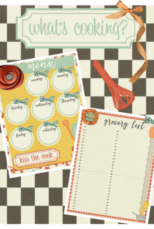 What's Cooking Printable Menu and Grocery List