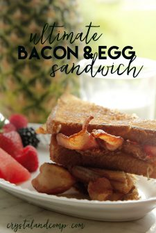 Ultimate Bacon and Egg Sandwich