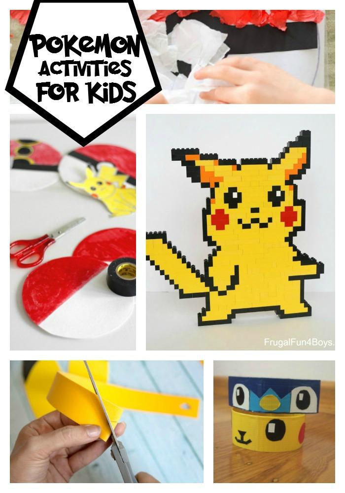 pokemon activities for kids