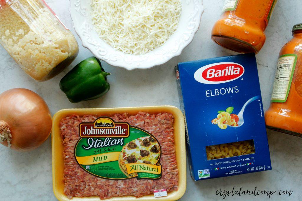 Johnsonville Sausage And Pasta Ingredients