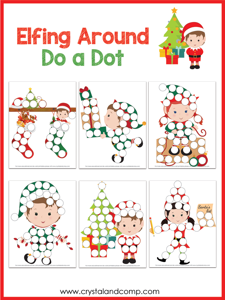 elf on the shelf do a dot printable pack