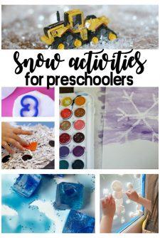 Snow Activities For Preschoolers
