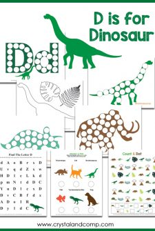 D is for Dinosaur Do a Dot Printables