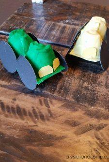 Preschool Car Craft Made from an Egg Carton