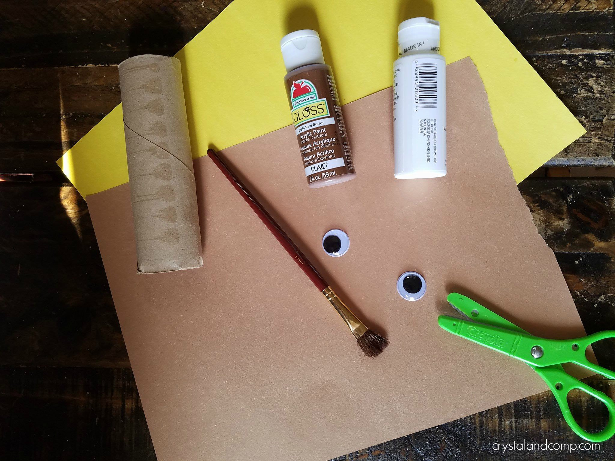 Eagle paper roll craft for preschoolers crystalandcomp begin by having your preschooler paint the paper rollint a portion of the top with white paint and the rest with brown paintlow it to dry completely jeuxipadfo Choice Image