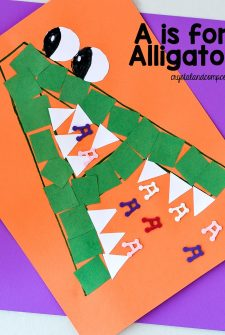 A is for Alligator Preschool Craft with Printable