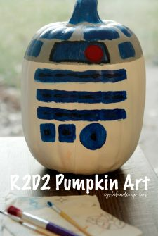 Star Wars R2D2 Pumpkin Art