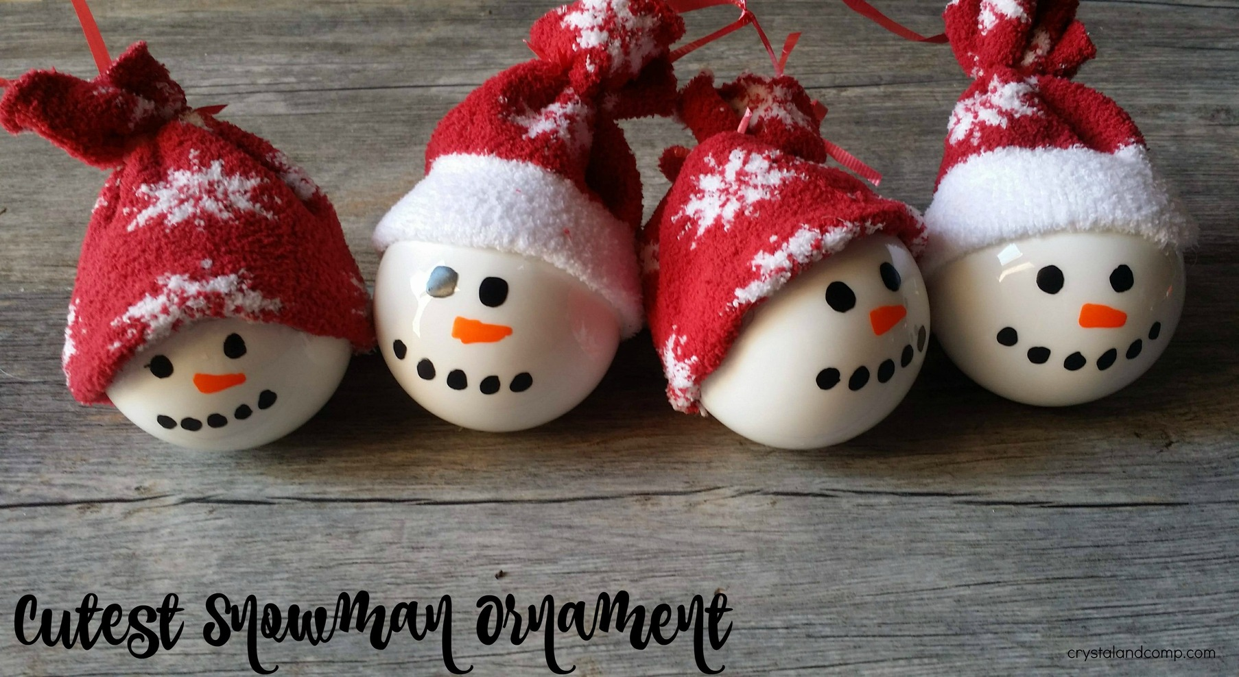 The Cutest Homemade Snowman Ornaments Ever