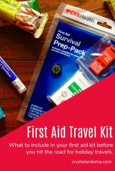 DIY First Aid Kit for Holiday Travels