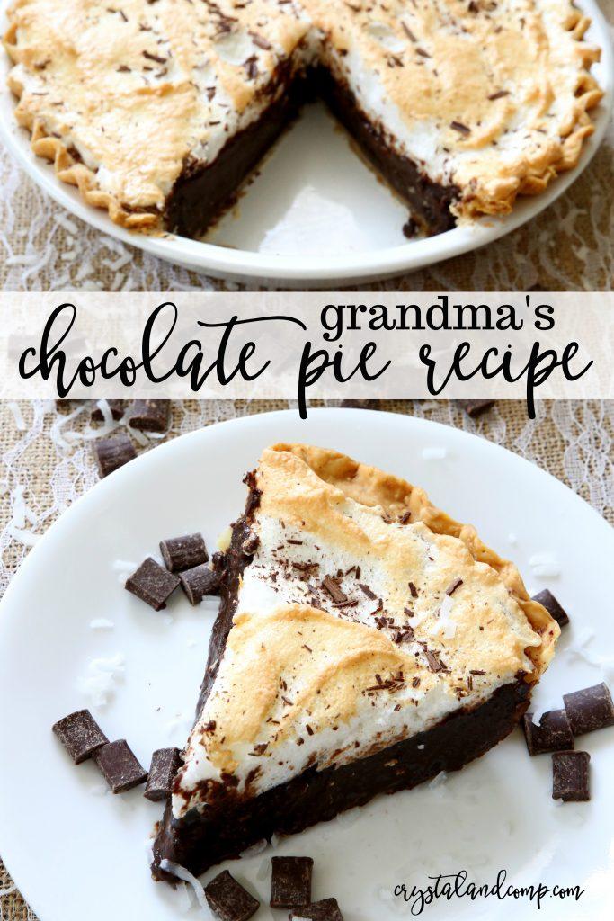 Grandma S Chocolate Pie Recipe