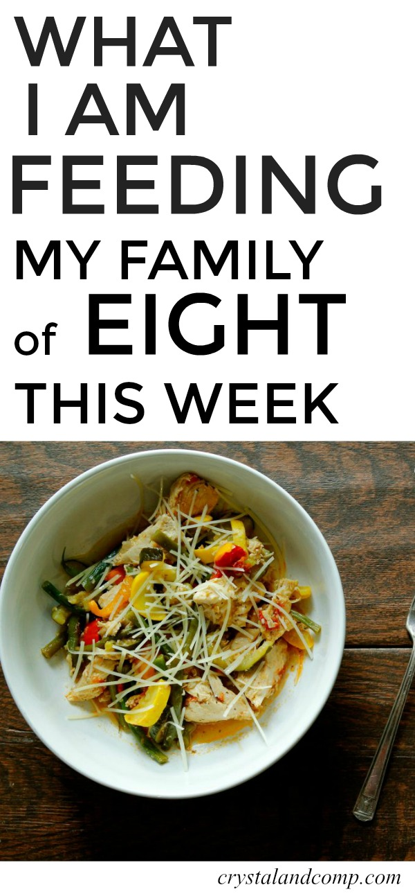 Large Family Meal Planning Week 229 Crystalandcomp