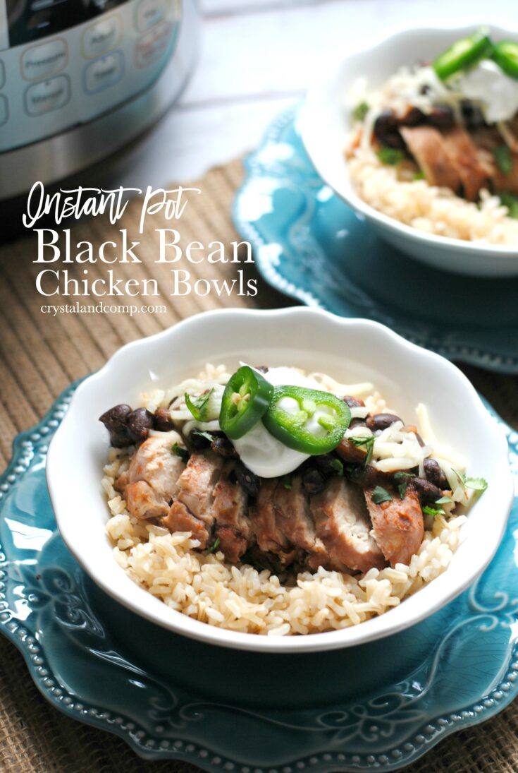 Instant Pot Black Bean Chicken Bowls