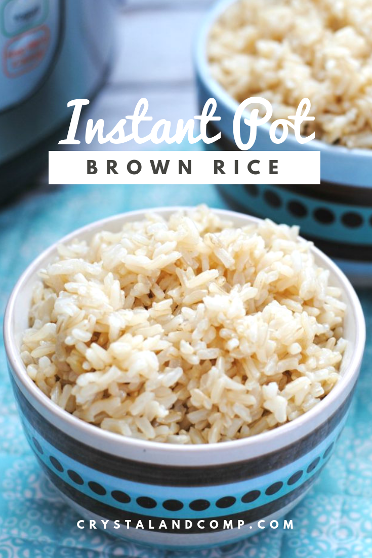cook brown rice in instant pot