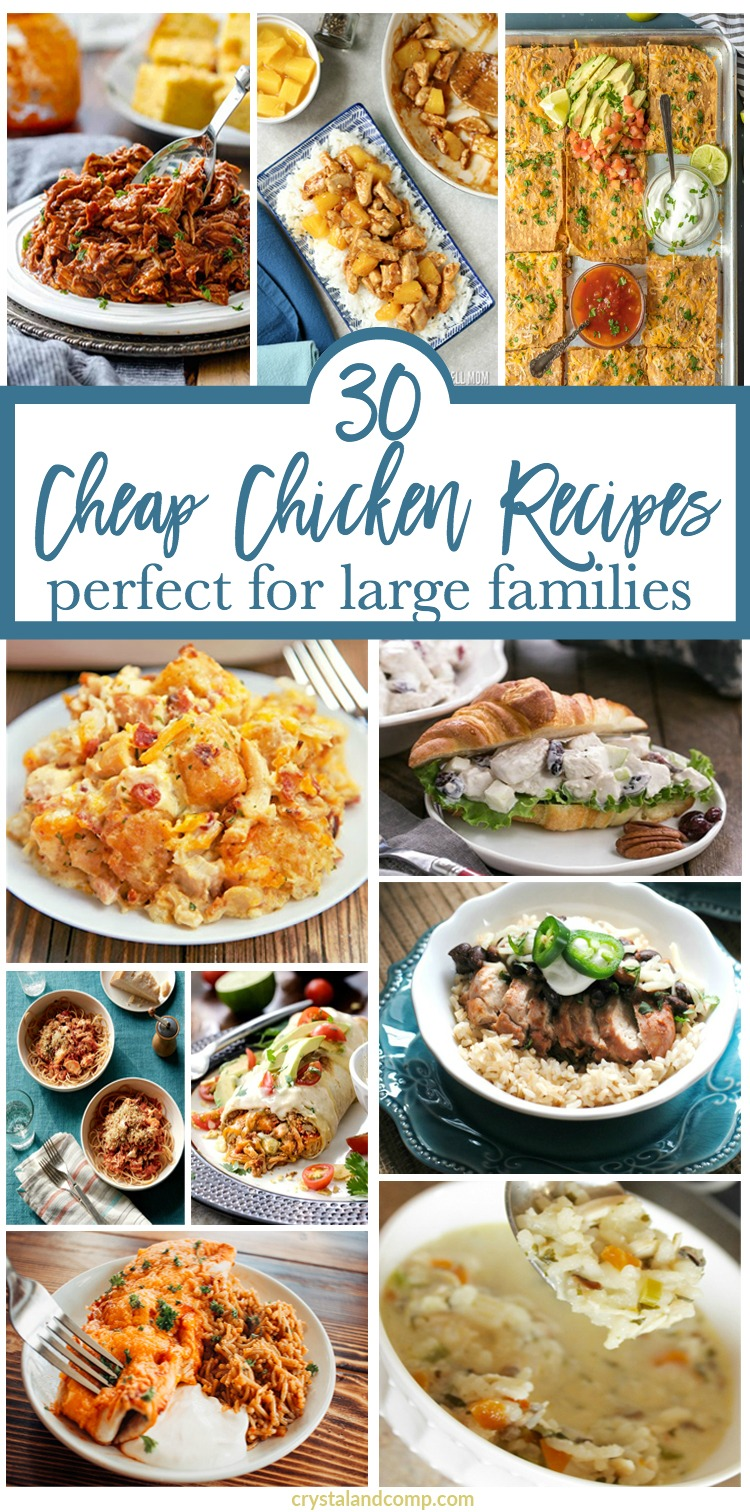 cheap chicken recipes for a large family | crystalandcomp