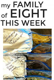 Large Family Meal Plan Week 236
