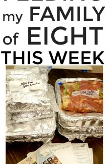 Large Family Meal Planning Week 241