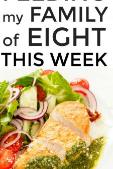 Large Family Meal Planning Week 244