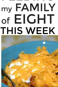 Large Family Meal Planning Week 251