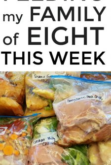 Large Family Meal Planning Week 252