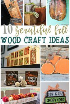 10 Beautiful Fall Wood Craft Ideas