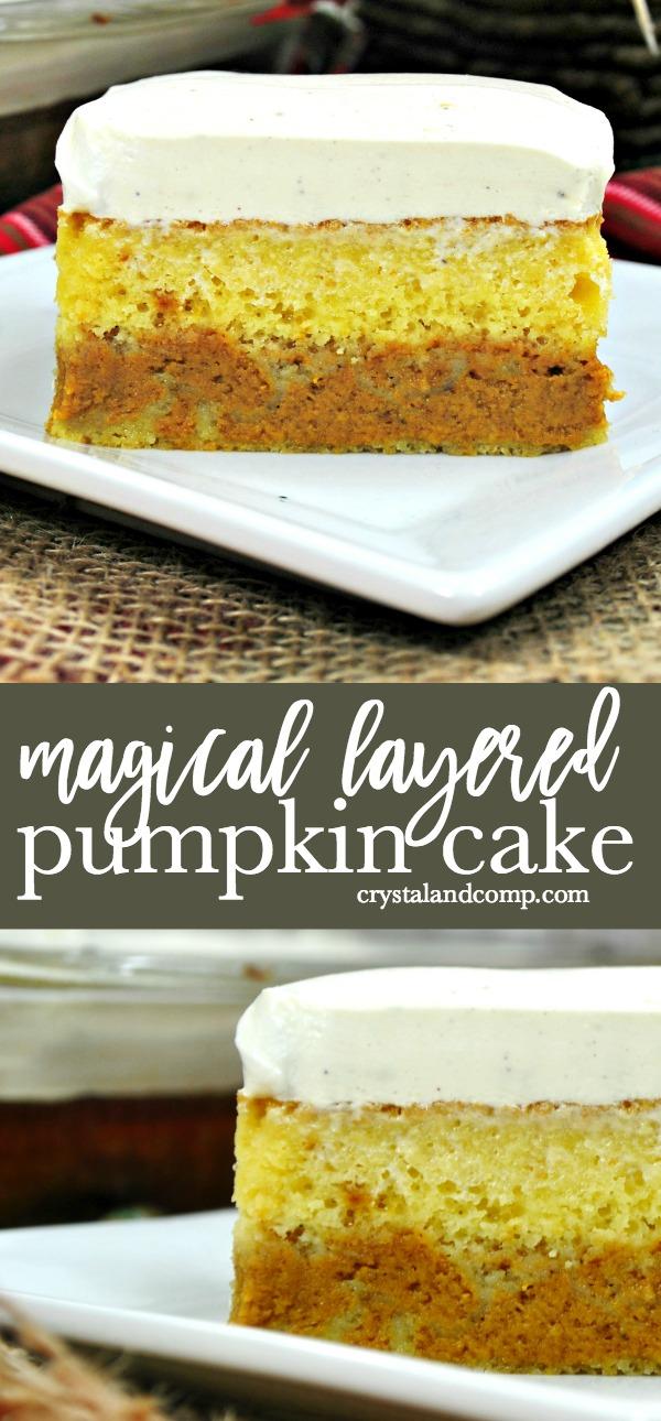 Easy Magic Pumpkin Cake