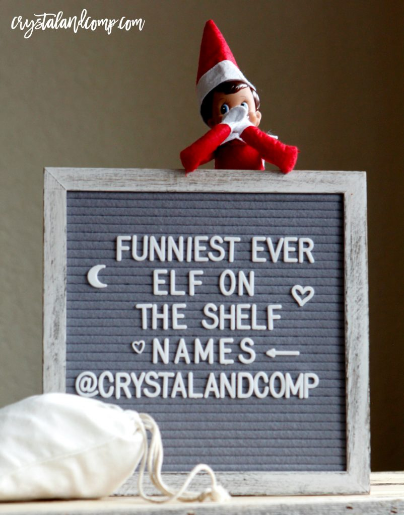 cute elf on the shelf names